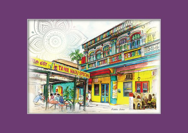 Singapore Traditional Sites - Little India Print